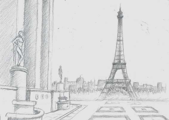 Dessin le blog de r2 le studio for Paris paysage
